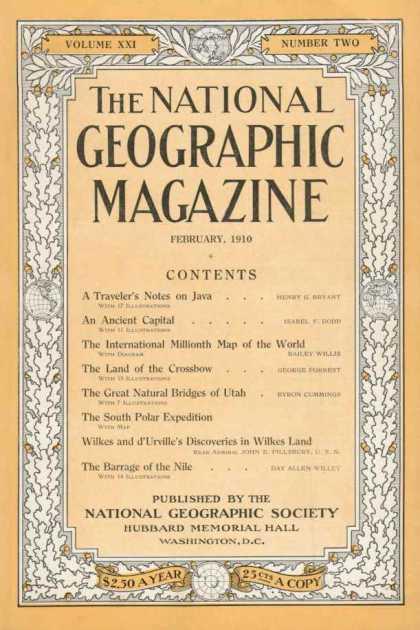 February 1910 Cover, National Geographic Magazine | Goldforest's Weblog